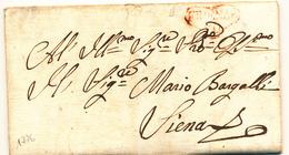 1776 PREFILATELICA CUORE DI FIRENZE  PER SIENA CON TESTO - 1. ...-1850 Prefilatelia