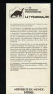 Fiche Illustrée NESTLE Les Merveilles Du Monde N°  146 LE TYRANOSAURE - Nestlé
