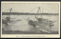 1929  --  INDOCHINE HUE  PECHE AU CARRELET SUR LA RIVIERE DES PARFUMS  3S234 - Vieux Papiers