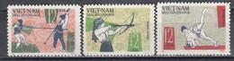 Vietnam Nord 1966 - National Sports Games, Mi-Nr. 438/40, MNH** - Vietnam
