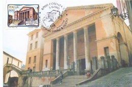 COSENZA LICEO GINNASIO BERNARDINO TELESIO  1990 MAXIMUM POST CARD (GENN200406) - Monumenti