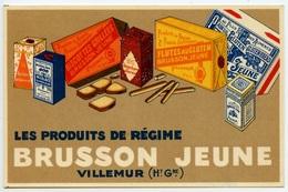 VILLEMUR - Produits BRUSSON Jeune - Carte Publicitaire   - Voir Scan RV - Frankreich