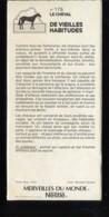 Fiche Illustrée NESTLE Les Merveilles Du Monde N°   175  DE VIEILLES HABITUDES - Nestlé