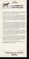 Fiche Illustrée NESTLE Les Merveilles Du Monde N°   176  LA JUMENT ET SON POULAIN - Nestlé
