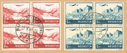 2xBLOCS DE 4 OBLITERES 1941 C/.S.B.K. Nr:F33/F34. Y&TELLIER Nr:33/34. MICHEL Nr:393/394. - Airmail