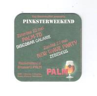 Bierviltje - Sous-bock - Bierdeckel  PALM - KAJ STEENHUFFEL PINKSTERWEEKEND 22 MEI - DISCOBAR GALAXIE  (B 322) - Sous-bocks