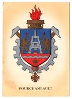 58 FOURCHAMBAULT - BLASON ECUSSON De La Ville - Description Du Blason Au Dos - Cpa Nièvre - Autres Communes