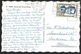 Carte Avec Oblitération De Paris Sur N°1160-Pour La Hollande - Postmark Collection (Covers)
