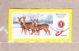 2011 Nr 4182 Duo-stamp Gestempeld. Type Mijn Zegel /  Mon Timbre. - Bélgica