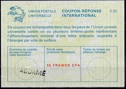 COTE D' IVOIRE / IVORY COAST La22A  55 FRANCS CFA International Reply Coupon Reponse Antwortschein IAS IRC  O ADJAME - Côte D'Ivoire (1960-...)