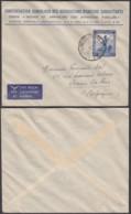 """CONGO BELGE COB 244 SUR LETTRE """"ASSOCIATION D'ANCIENS COMBATTANTS"""" (BE) DC-5446 - Belgian Congo"""