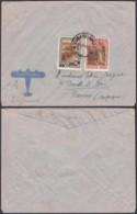 CONGO BELGE COB 198+200 SUR LETTRE PAR AVION DE ELISABETHVILLE 14/02/1940 VERS NAMUR (BE) DC-5452 - Belgian Congo