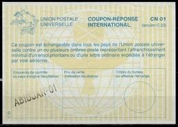 COTE D' IVOIRE / IVORY COAST La29 International Reply Coupon Reponse Antwortschein IAS IRC  O ABIDJAN-01 - Côte D'Ivoire (1960-...)