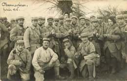 100120A - Carte Photo ED GEORGEON Villiers Sur Marne - 94 CHENNEVIERES Février 1916 Guerre 1914 18 Militaria Compagnie - Chennevieres Sur Marne