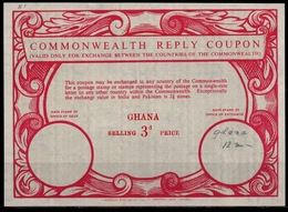GHANA Scarce Early Co11 3d. Commonwealth Reply Coupon Reponse Antwortschein IRC mint ** - Ghana (1957-...)