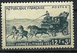 """FR YT 919 """" La Journée Du Timbre : La Malle-poste """" 1952 Neuf** - Unused Stamps"""