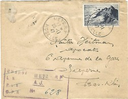 Lettre Recommandée, Cachet Provisoire, METZ R.P. MOSELLE 29.11.47 (LR628) - Marcophilie (Lettres)