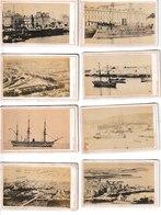 Manche CHERBOURG 8 Photos Cartonnées Format Carte De Visite Maison Rideau (port Navires - Napoléon, Solférino, St Malo.. - Orte