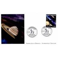 FDC LNF - Europa 2009 - L'astronomie, Saturne - Oblit Strasbourg 3/5/09 - FDC