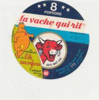 W 823 / ETIQUETTE  FROMAGE - LA VACHE QUI RIT   - L'ILE AUX ENFANTS     8 PORTIONS - Fromage