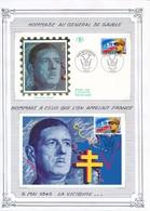 FRANCE - CARTE + ENVELOPPE PREMIER JOUR LA VICTOIRE PARIS 8 MAI 1995 - Guerre Mondiale (Seconde)