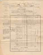 Lot De 6 Documents Fiscaux Du Béarn, Aast, 1910, Impôts Sur Les Voitures, Chevaux, Mulets, Billards, Portes & Fenêtres - Historische Documenten