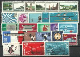 """DDR 1179-1228 """"24 Briefmarken Zu Jahrgang 1966, Dabei 8 Sätze """" Postfrisch Mi.-Preis 17,80 - [6] République Démocratique"""