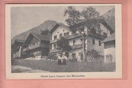 OLD  POSTCARD - SWITZERLAND - SCHWEIZ - SUISSE -     CHALET LOUIS COQUOZ - LES MARECOTTES - VS Valais