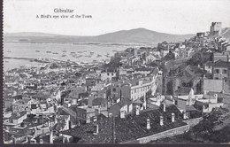 Gibraltar PPC A Bird's Eye View Of The Town V.H. Cumbo, Gibraltar (Unused) (2 Scans) - Gibraltar