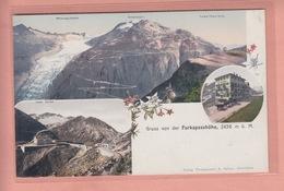 OLD  POSTCARD - SWITZERLAND - SCHWEIZ - SUISSE -    FURKA PASS - HOTEL - POST - VS Valais