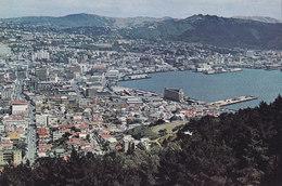 New Zealand PPC Wellington, Port Nicholson Grand Harbour Tinakari Hills Colourchrome Series W.T. 390 (2 Scans) - Nuova Zelanda
