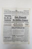 """Norddeutsche Ausgabe Des """"Völkischen Beobachter"""" Vom 1.Oktober 1938 - Deutsch"""