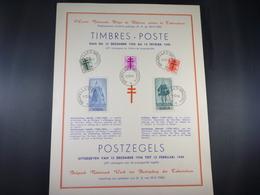 """BELG.1948 787/791 FDC Carte Souvenir :  """" Antiteringzegels / Antituberculeux """" - FDC"""