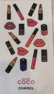 CHANEL- Planche De 17 Stickers Pour ROUGE COCO - Collection - NEUVE Sous Blister - Cartes Parfumées