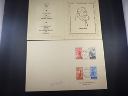 "BELG.1948 781/784 FDC Carte Souvenir :  "" Edouard Anseele "" - FDC"