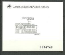 Azores - Acores - Portugal 1990 Europa: Postal Facilities, Post Office Vasco Da Gama  Mi 409 Blackprint  MNH(**) - Azores