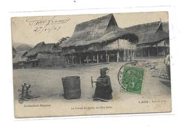 CPMJ3841  LAOS LE TRAVAIL DU COTON AUX HUA PAHN - Laos