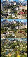 Liechtenstein 1771/73 Tryptique Nature, Oiseaux, Train, Ours, Loup, Aigle, Perroquet, Bicyclette - Liechtenstein
