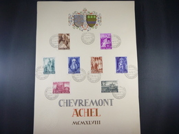 "BELG.1948 773/776 & 777/776 FDC Carte Souvenir :  "" Abdij Van Achel/ L'Abbeye D'Achel "" - FDC"