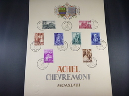 "BELG.1948 773/776 & 777/776 FDC Carte Souvenir :  "" EAbdij Van Achel/ L'Abbeye D'Achel "" - FDC"