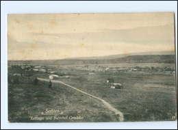 U8752/ Serbien  Zeltlager Und Bahnhof Gradsko  1918 AK 1. Weltkrieg - Serbie