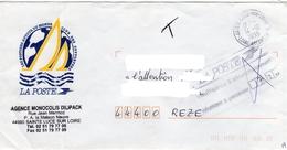 Lettre Circulée En 1999, Avec Cachet Insuffisance D'affranchissement + Cachet 44-Ste Luce Sur Loire - Loire Atlantique - Taxes