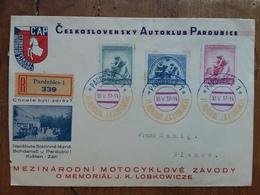CECOSLOVACCHIA - Raccomandata Con Annullo Commemorativo + Spese Postali - Briefe U. Dokumente