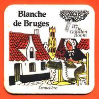 Sous Bock - Coaster Bière Blanche De Bruges à Brasserie Bruges Belgique - Dentelière - Portavasos
