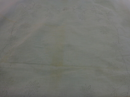 Nappe 170x170 A Terminer Tissu En Organdi Sous Reserve - Vintage Clothes & Linen