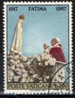 VATICANO - 1967 - APPARIZIONI DI FATIMA - CINQUANTENARIO - USATO - Oblitérés