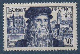 FR 1952  3ème Centenaire De La Naissance De Léonard De Vinci  N°YT  929 ** MNH - Francia