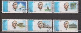 Sharjah (Mi N° 875 à 880 Charles De Gaulle) Oblitérés - Schardscha