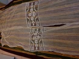 2 Rideaux 214franges Comprises X 53 Cm Decor Sur Filet - Rideaux