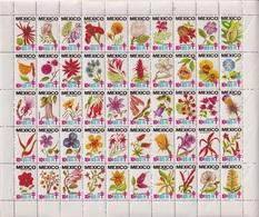Mexico 1973-74 - Sheet Flowers - Mexique